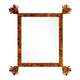 Image of Fleur Home x Chairish Vieux Mirror in Tortoise, 43x55 For Sale