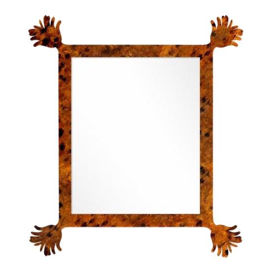 Fleur Home x Chairish Vieux Mirror in Tortoise, 43x55 For Sale
