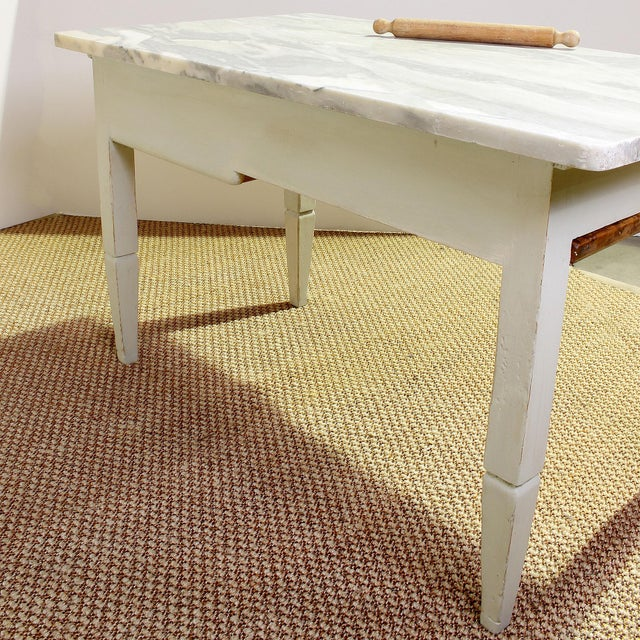 Vintage Italian Marble Top Kitchen Table For Sale - Image 4 of 10