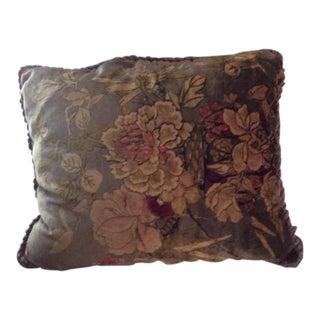 Vintage French Floral Velvet Pillow