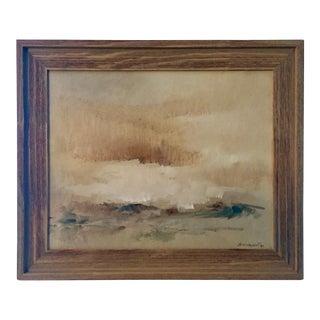 1980 Framed Original Landscape Oil Painting-Signed R.Baranet For Sale