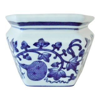 Blue & White Chinese Wall Pocket Vase For Sale