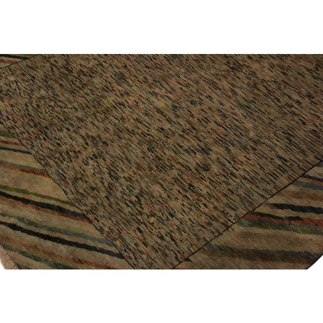 Textile Overdyed Color Reform Glory Gray/Rust Area Rug - 4'7 X 6'4 For Sale - Image 7 of 8