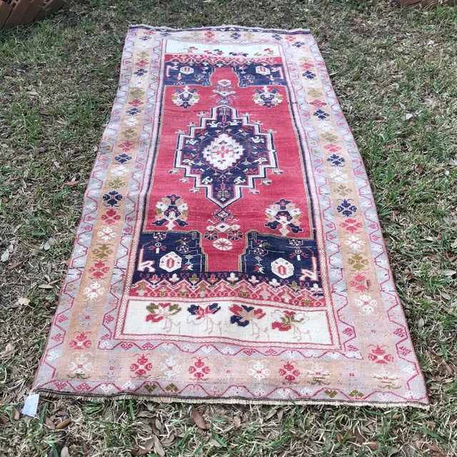 Vintage Anatolian Oushak Rug For Sale - Image 4 of 4