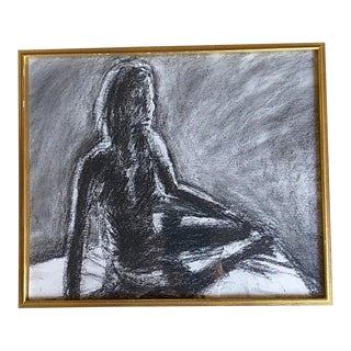 Figurative Charcoal Sketch For Sale