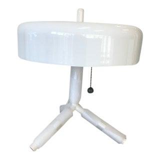 Jonah Takagi Aluminum and Acrylic White Table Lamp For Sale