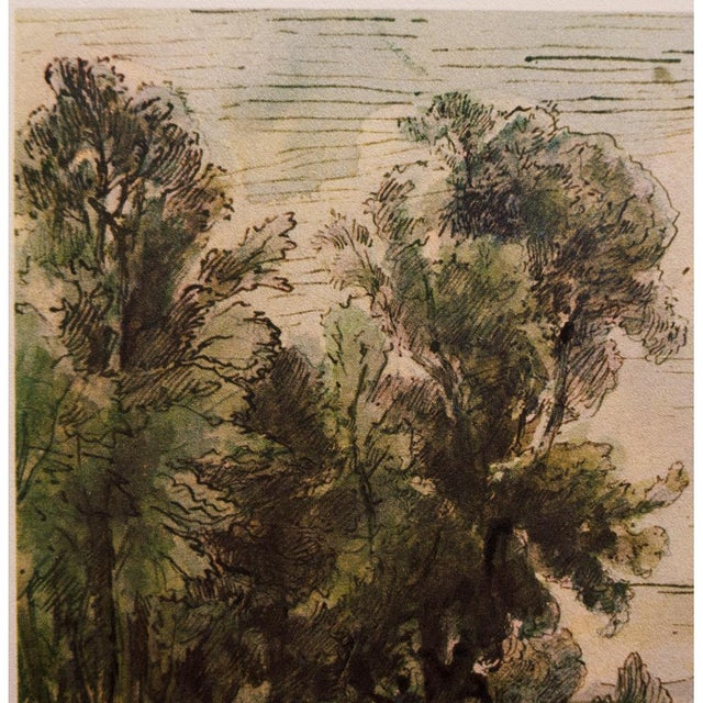 1950s Theodore Rousseau, 1959 River Landscape Lithograph For Sale - Image 5 of 10