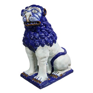 French Faience Figure of a Lion For Sale