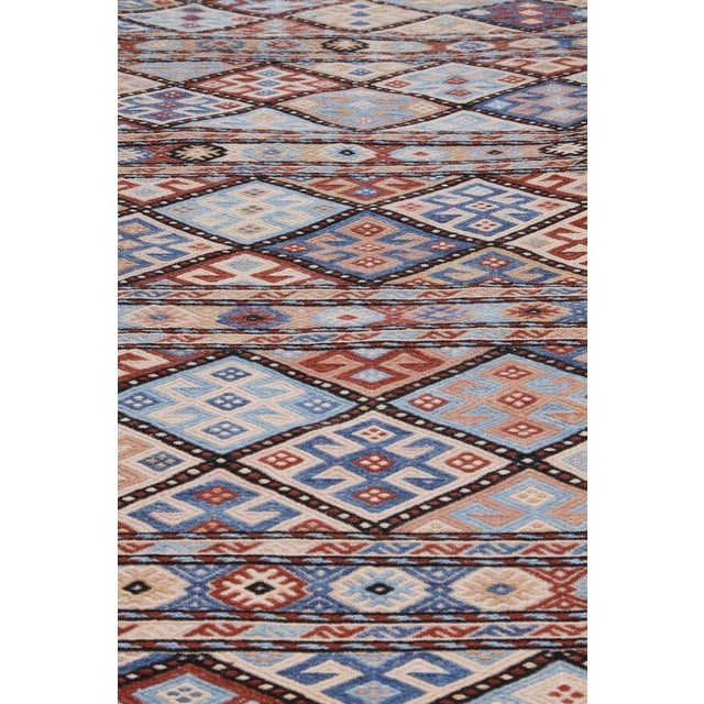 Islamic Hand Knotted Geometric Runner Rug - 2' X 8' For Sale - Image 3 of 4
