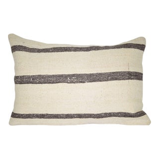 Vintage Pillow Made Out of a Mid-20th Century Anatolian Wool Kilim 16'' X 24'' (40 X 60 Cm) For Sale