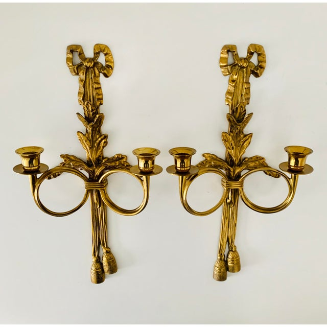 1970s French Neoclassical Wall Appliques - a Pair For Sale In Minneapolis - Image 6 of 7
