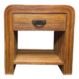 Image of Boho Chic Split Reed End Table For Sale