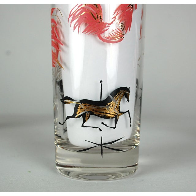 Mid-Century Rooster Highball Glasses - Set of 5 - Image 5 of 6