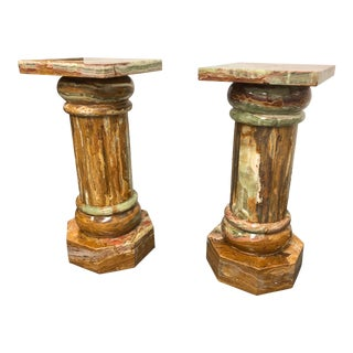 Contemporary Marble Pedestals - A Pair For Sale
