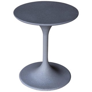 Cast Resin 'Spindle' Side Table in Gray Stone Finish by Zachary A. Design For Sale