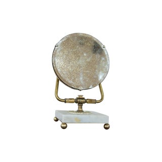 Mid-Century Marble Base Hollywood Mirror For Sale