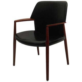 1950s Fritz Hansen for Aksel Bender Madsen, Ejnar Larsen Model 4205 Armchair For Sale