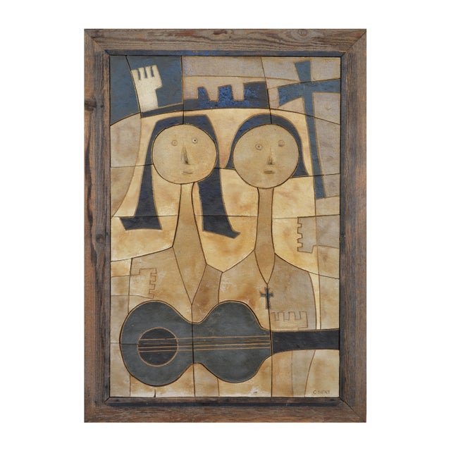 Ceramic Wall Relief by Clyde Burt - Image 2 of 5