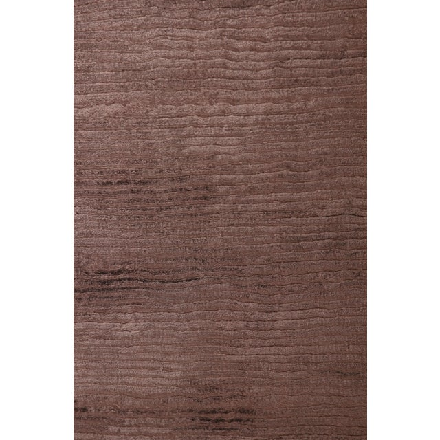 Transitional Exquisite Rugs Ives Hand loom Viscose Brown Rug-14'x18' For Sale - Image 3 of 10