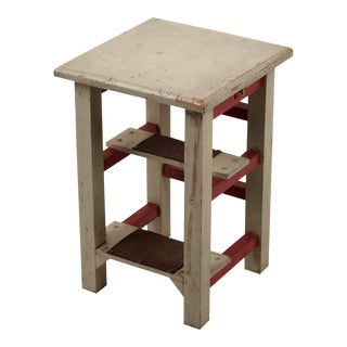 Step Stool Side Table