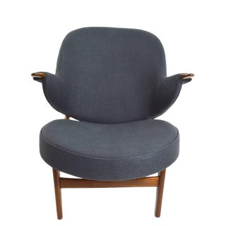 Vintage Danish Modern Lounge Chairs Attributed to Poul Jessen For Sale