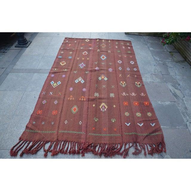 Nomadic Turkish Wool Bohemian Rug - 4′8″ × 7′8″ For Sale In Austin - Image 6 of 6