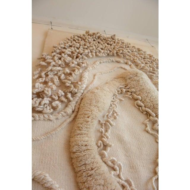 Enormous White Wool Fiber Art From Robert Kidd Studios, C1975 For Sale - Image 4 of 6