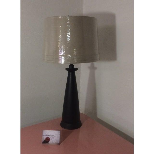 1950s Matte Black Cone Lamp - Image 3 of 10