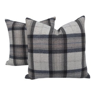 Scottish Wool Plaid Pillows~Pair For Sale
