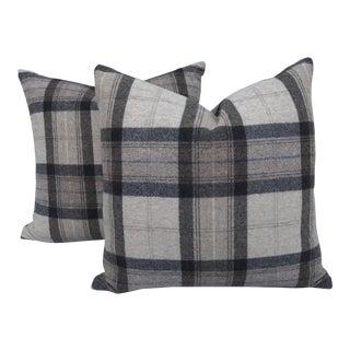 Scottish Wool Plaid Pillows~Pair