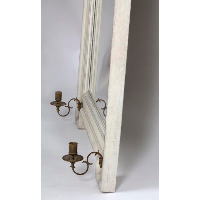 Vintage Gustavian Style Mirror With Candle Arms - Image 4 of 6