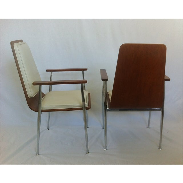 Mid-Century Modern Plywood Arm Chairs - Image 3 of 3