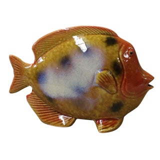 Ceramic Multi-color Yellow Tropical Fish Decor Display cs2584 For Sale