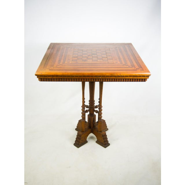 19th C. Victorian Parlor Game Table For Sale - Image 11 of 11