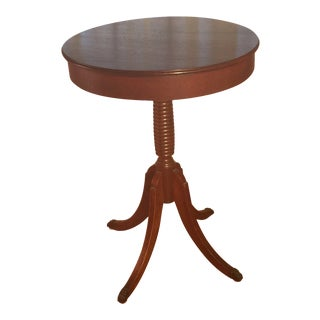 20th Century Traditional Mahogany Pedestal Table For Sale