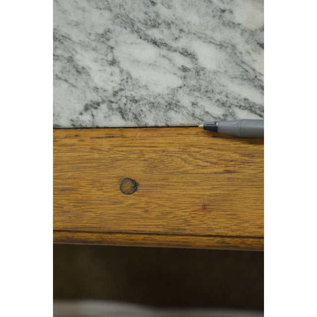 Chippendale Style Custom Walnut Marble Top Side Table For Sale - Image 5 of 11