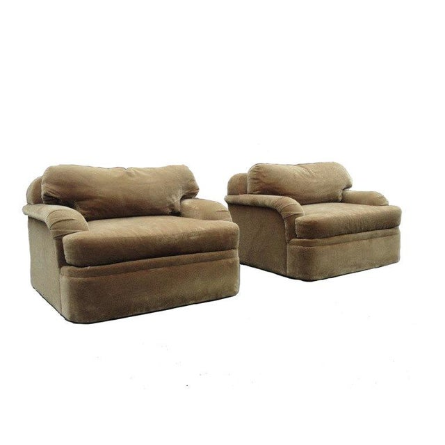 Thayer Coggin - Milo Baughman Style Oversized Mohair Club Chairs - A Pair - Image 11 of 11
