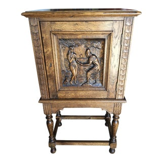Gothic Revival Bar Cabinet For Sale
