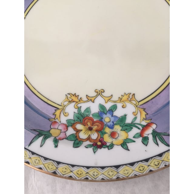 Asian Antique Lustreware Noritake Plate For Sale - Image 3 of 5