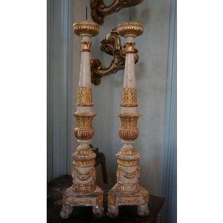 17th Century Italian Altar Candlesticks Pair Preview