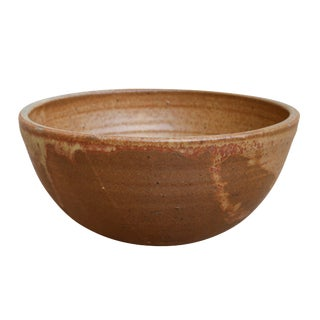 Simple Brown Stoneware Bowl