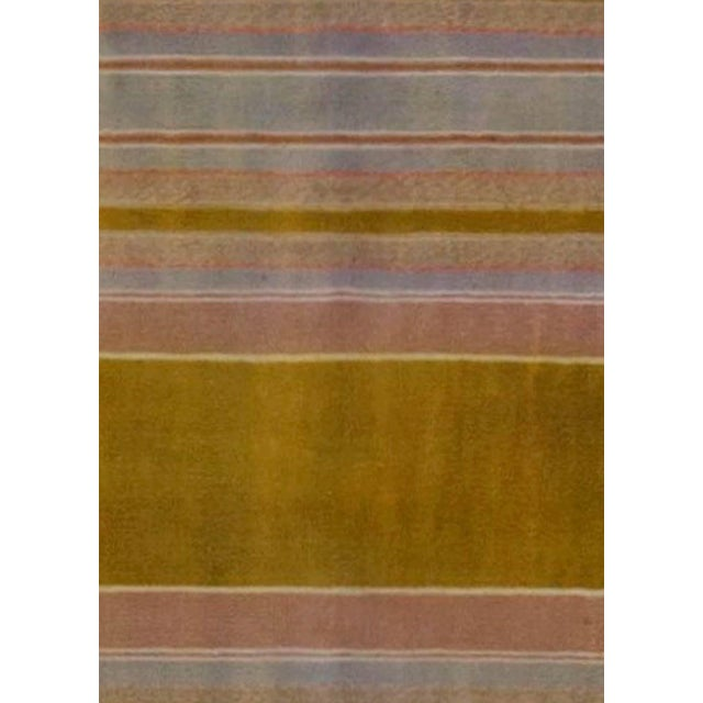 """Vintage Indian Dhurrie runner Size: 3'10"""" × 27'4"""" (116 × 833 cm) This antique Indian Dhurrie runner rug features an all-..."""