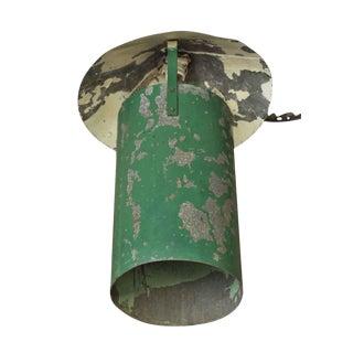 Industrial Green Steel Hanging Lantern For Sale