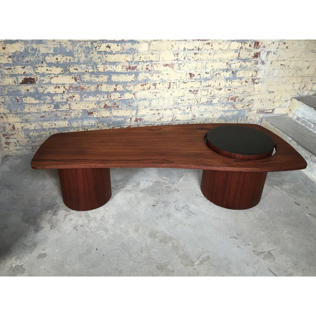 Mid-Century Danish Teak Floating Coffee Table - Image 3 of 10