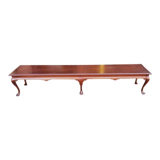 Bench Made Mahogany Queen Anne Style Low & Long Hallway Bedroom Bench For Sale