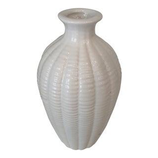 Ceramic White Bud Vase For Sale