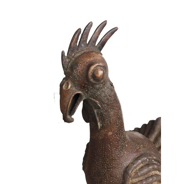 Huge African Benin Bronze Rooster Nigerian For Sale - Image 9 of 11
