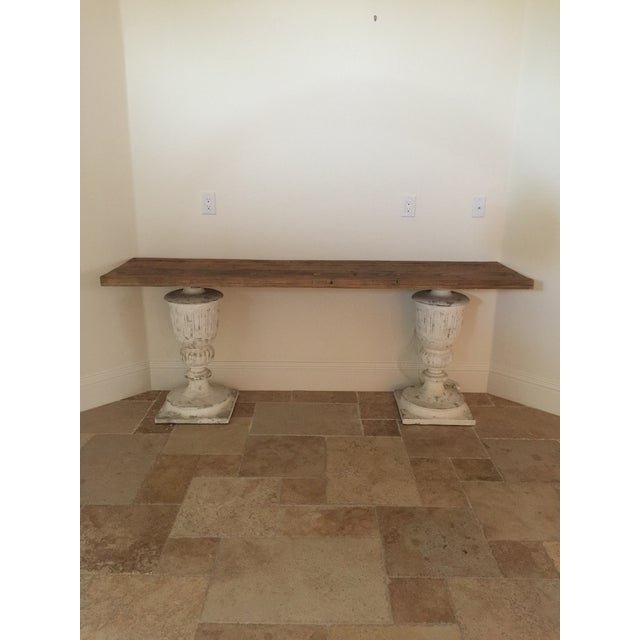 Rustic Faux Stone Console Table - Image 2 of 4