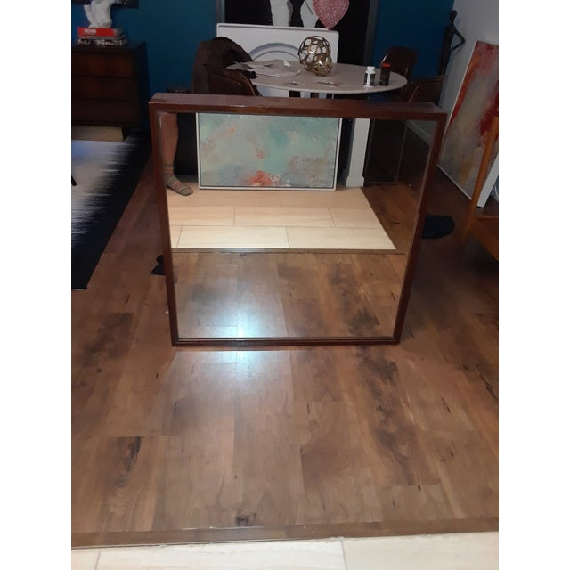 Wood Mid-Century Modern Wood Framed Mirror For Sale - Image 7 of 10