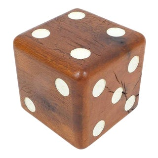 Large Solid Wooden Dice, circa 1950 For Sale